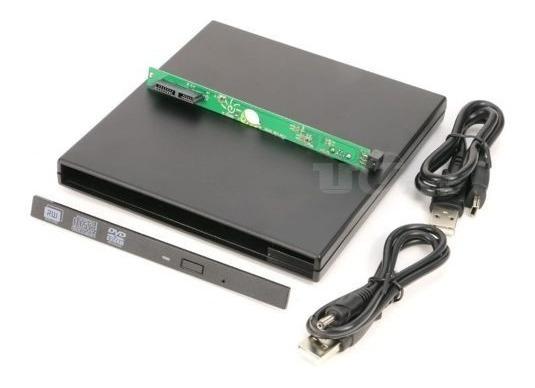Case Externa Usb P/ Gravadora Cd/dvd 9.5mm Slim De Noteb J7