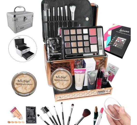 Maleta Completa Com Maquiagem Avon Luisance + Brinde - Bz12