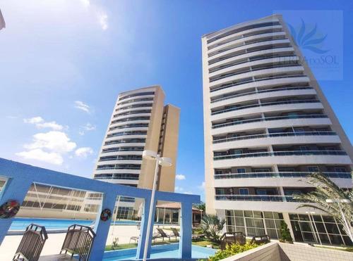 Apartamento Com 3 Dormitórios À Venda, 81 M² Por R$ 445.000,00 - Cocó - Fortaleza/ce - Ap0839