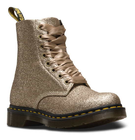 Dr Martens Colombia, Oficial. 1460 Gold Pale Glitter, Mujer