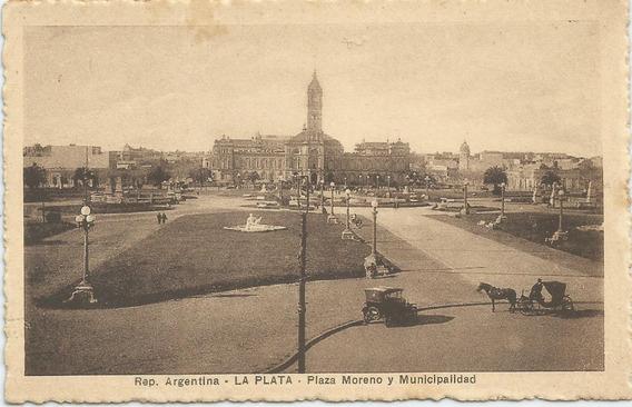 Antigua Postal La Plata, Plaza Moreno Y Municipalidad