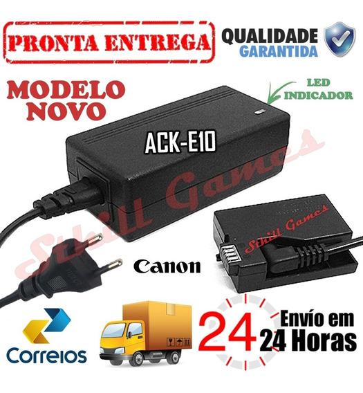 Fonte Ack-e10 Adaptador Ac Para Canon Rebel T3 T5 T6 1100d