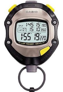 Reloj Cronómetro Casio Hs70 - Memoria 100 Vueltas Wr 50 M