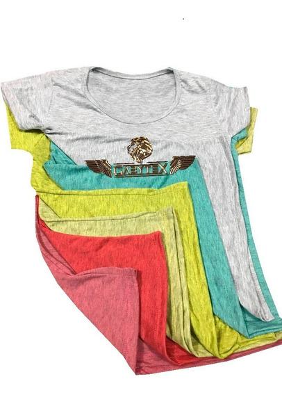 Remera De Dama P/sublimar Colores Jaspeados