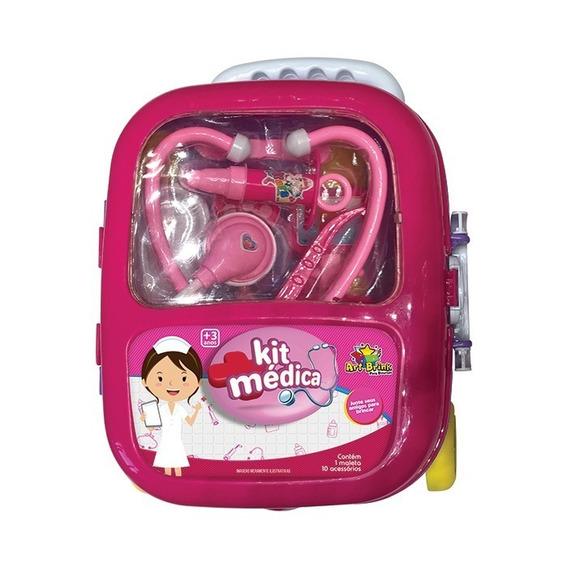 Maleta Médica Girl Infantil Com Acessório Kit Médica Menina