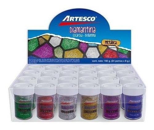 Brillantina En Polvo - Colores Metalicos Caja X 24 8 Grs C/u