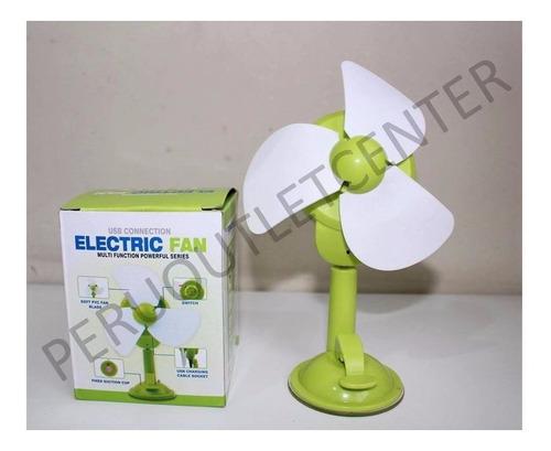 Imagen 1 de 3 de Mini Ventilador Para Auto Y Con Soporte Extra Para Celular