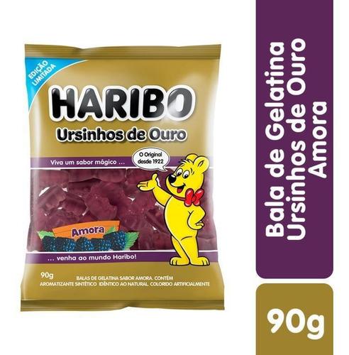 Imagem 1 de 2 de Bala De Gelatina Ursinhos De Ouro Amora Haribo 90g