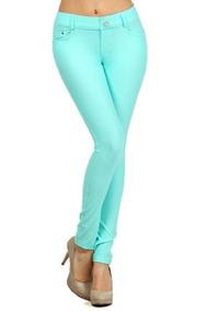 Moda Mic Womens Pull En Algodon Mezcla Color Jeggings