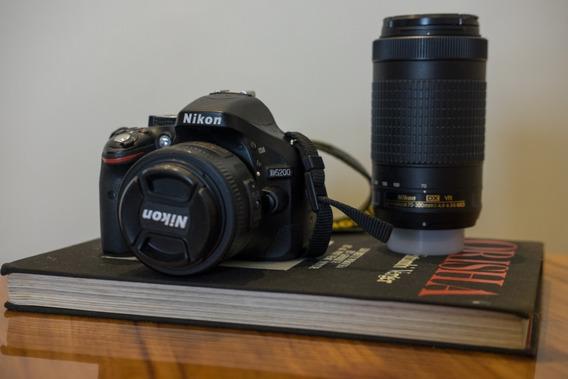 Nikon D5200 + Lente Af-s Dx Nikkor 35mm F/1.8g