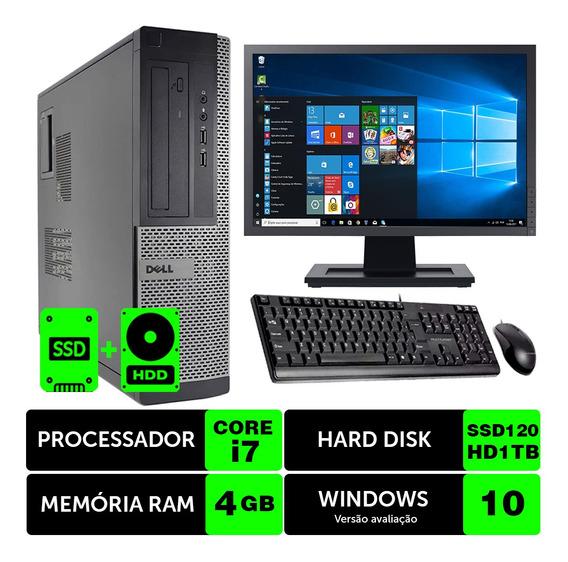 Computador Usado Dell Optiplex Int I7 2g 4gb Ssd120+1tb M19w