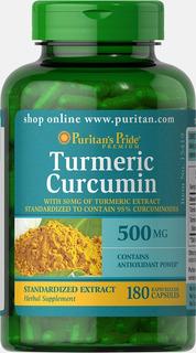 Curcumina 500 Mg Açafrão Puritans Curcuma Pura