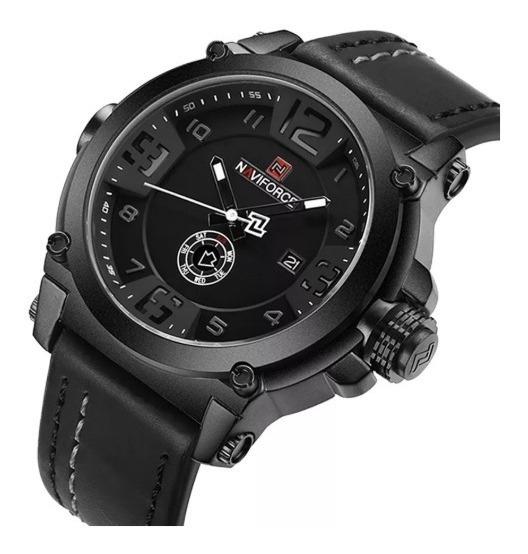 Relógio Masculino Naviforce Militar Pulseira Couro Promoção