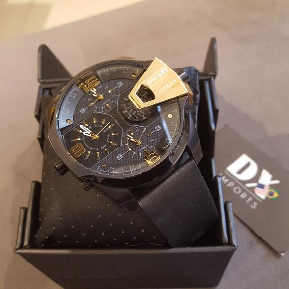 Relógio Masculino Diesel 10bar Original Pulseira De Couro
