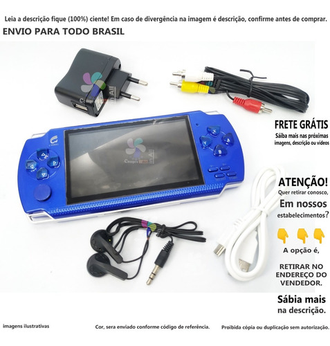 Imagem 1 de 1 de Mini Console De Vídeo Game Portátil Jogos Retro Clássico A@