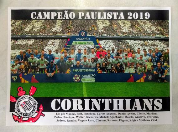 Poster Do Corinthians - Campeão Paulista De 2019
