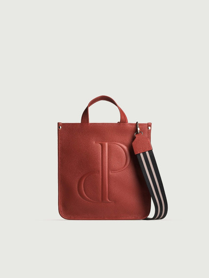 Cartera Odete Prüne Aw2020 Color Brick Invierno 2020