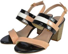 Sandália Salto Quadrado - Não Perca
