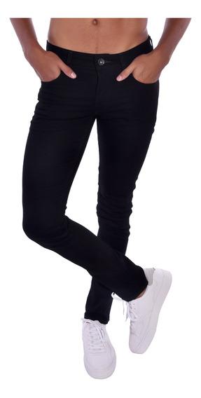 Pantalón Skinny Guess Negro Mb3an321kb0 Hombre