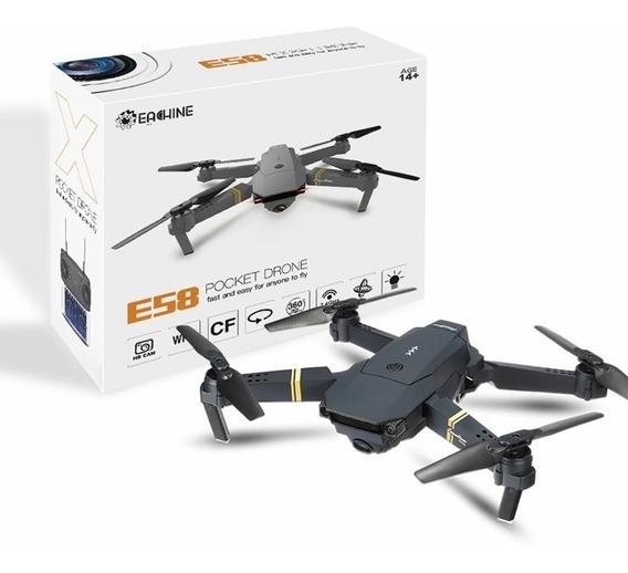 Drone Eachine Dobrável E58 Câmera 2mp 720p Mais 2 Baterias