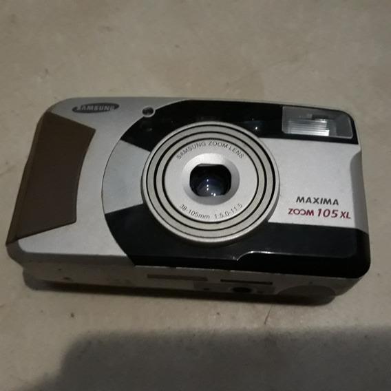 Câmera Fotografica Analógica Antiga Samsung Maxima Zoom105xl