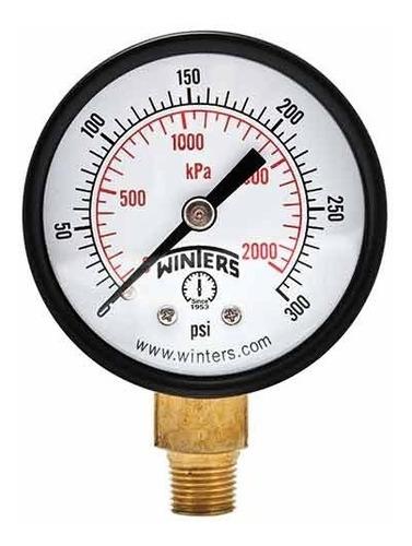 Imagen 1 de 3 de Manómetro Winters Pem Caja 38mm Economico R1/8 Rangos