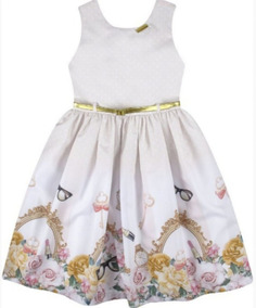 Vestido Festa Infantil Com Cinto N182