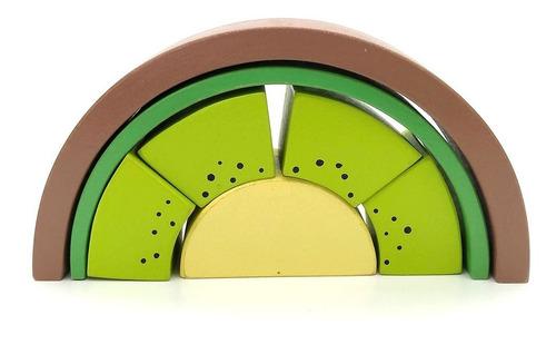 Juego Didactico Encastrable Kiwi Madera Montessori / Waldorf