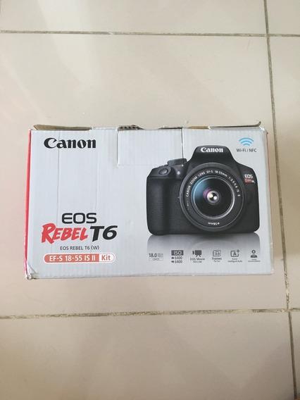 Câmera Canon Rebel T6 C/ 18-55mm + 32gb