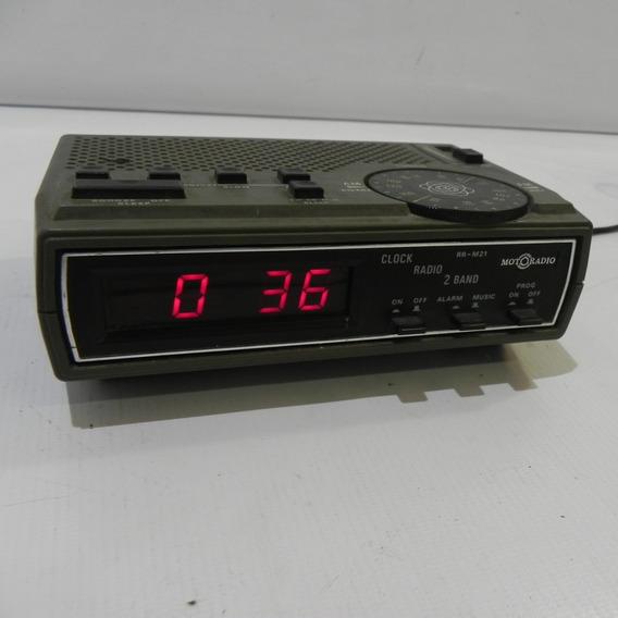 Rádio Relógio Motoradio Modelo: Rr M 21 Usado Funcionando.