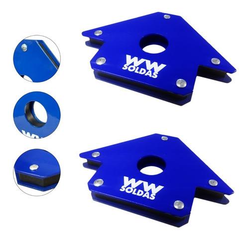 Imagem 1 de 7 de Esquadro Magnético Para Solda 22kg Kit Com 2 Uni Wwsoldas