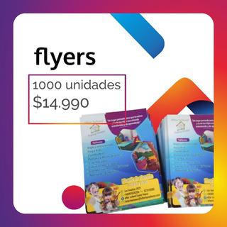 1000 Flyers Volantes 10x14 Cm Papel Brillante Full Color