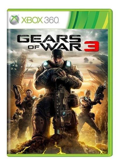 Gears Of War 3 Xbox 360 Lacrado Mídia Física Pronta Entrega