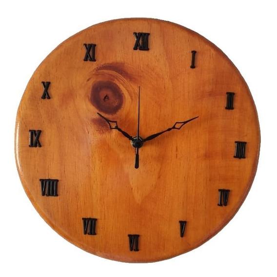 Relógio Simples Em Madeira Rústico |simorine|