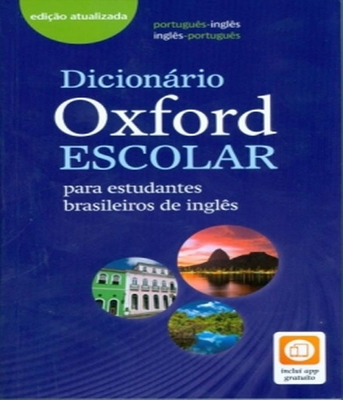 Dicionario Portugues Ingles Escolar Oxford - New Edition