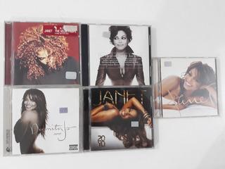 Janet Jackson - Lote De Discos Originales - 5 Cd