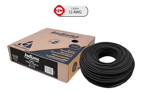Imagen 1 de 7 de Caja 100 Mts Cable Blanco Thw Cal 12 Awg Indiana 100%cobre