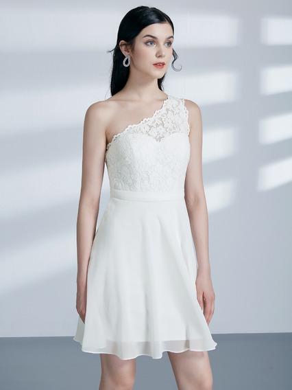 Vestido De Noivas Chiffon Curto