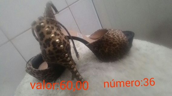 Sapato De Salto Alto Usado Apenas 2 Vezes