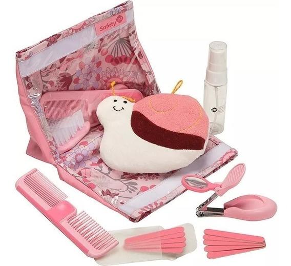 Kit Higiene Beleza Rosa 18 Peças Safety S174ih Menina
