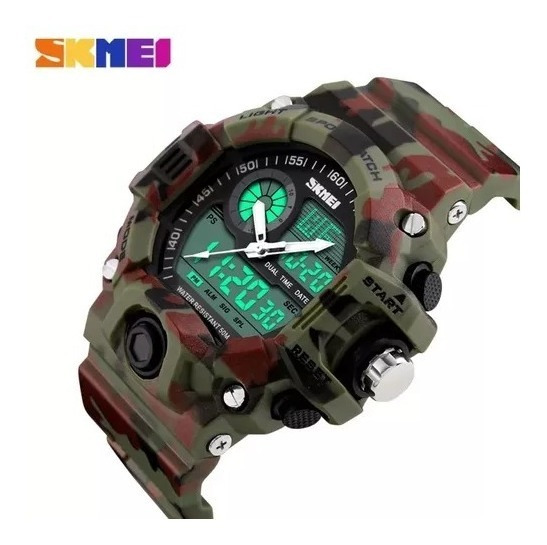 Relógio Militar Camuflado Skmei Original