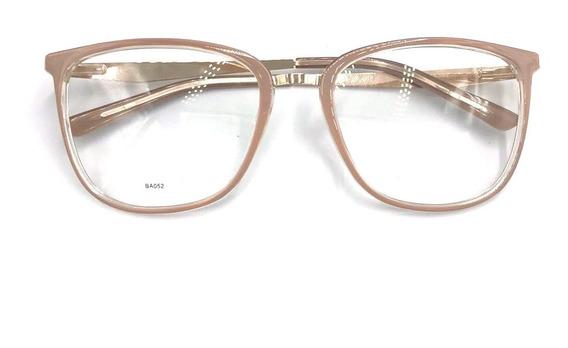 Óculos Sem Grau Armaçaoes Acetato Metal Cat Chic Estiloso