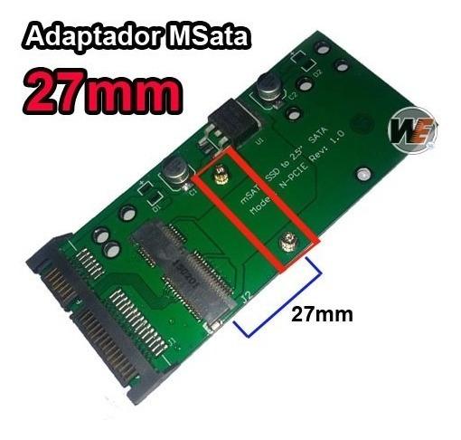 Adaptador Msata Mini Pci-e Ssd 27mm P/ Sata 2.5 - Half Size