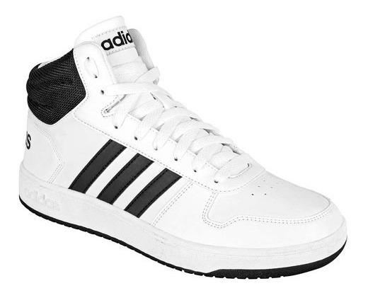 Tenis adidas Hoops 2.0 Mid Blanco Tallas #25 Al #29 Hombre