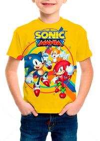 Camiseta Infantil Game Sonic Mania