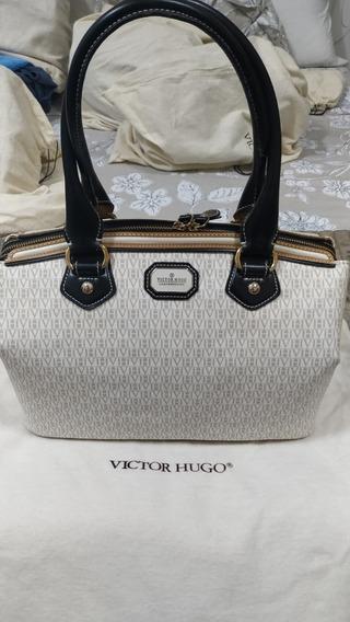 Bolsa Grace Em Canvas Branco - Victor Hugo Original.