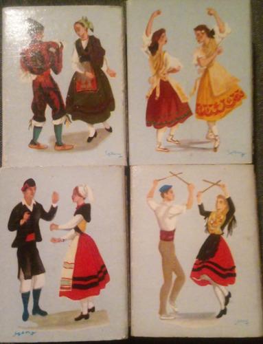 Lote 4 Cajitas De Fósforos - Tema Trajes Y Bailes De España