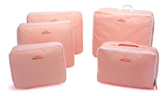 Organizador De Bagagem Para Viagem Ou Gaveta Kit Com 5 Peças