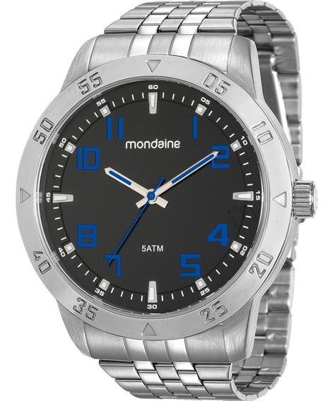 Relógio Mondaine Masculino Prata Barato Orginal 99190g0mvne1