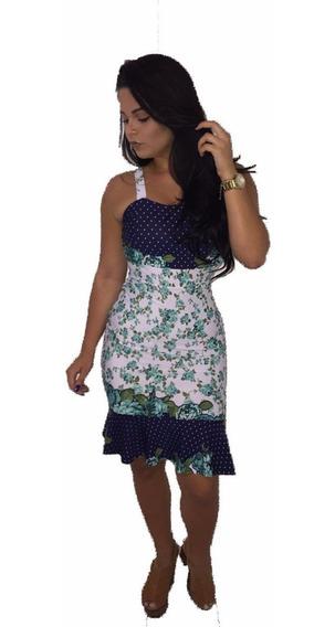 Vestido Boneca Rodado Delicado Saia Estampada Lançamento